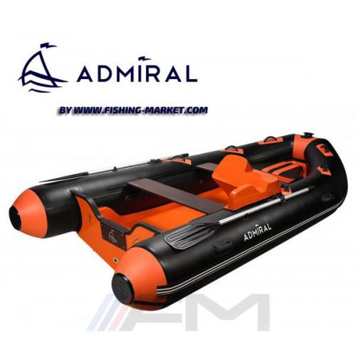 ADMIRAL - Конзола за управление на RIB надуваема лодка с твърдо дъно и кил Base 410 Orange/Black