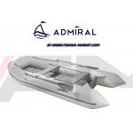ADMIRAL - Надуваема моторна лодка с алуминиево дъно и надуваем кил AM-320C AL - светло сива