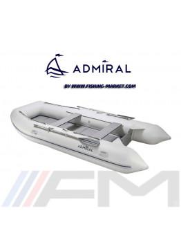 ADMIRAL - Надуваема моторна лодка с твърдо дъно и надуваем кил AM-320 Classic - светло сива