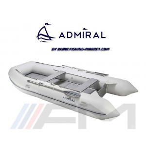 ADMIRAL - Надуваема моторна лодка с твърдо дъно и надуваем кил AM-305 Classic - светло сива