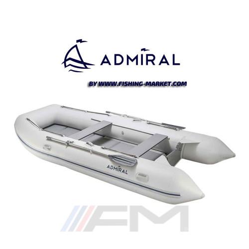 ADMIRAL - Надуваема моторна лодка с алуминиево дъно и надуваем кил AM-320 Classic AL - светло сива