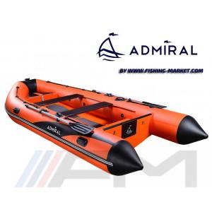 ADMIRAL - RIB надуваема лодка с твърдо дъно и кил Base 410 Orange/Black и конзола за управление