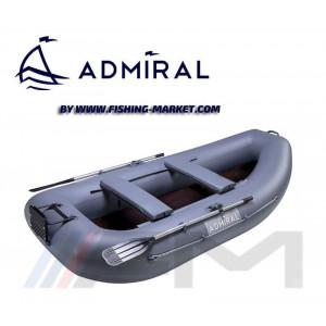 ADMIRAL - Надуваема гребна лодка с твърдо дъно AM-280TP - сива