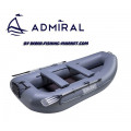 ADMIRAL - Надуваема гребна лодка с твърдо дъно AM-280T - сива