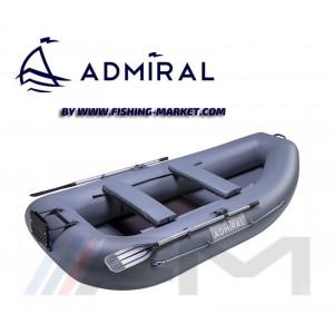 ADMIRAL - Надуваема гребна лодка с твърдо дъно AM-300T - сива