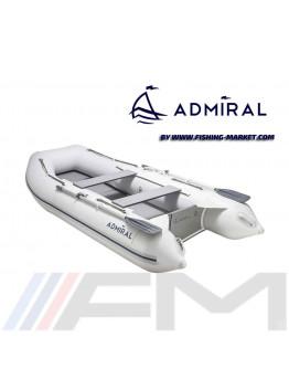 ADMIRAL - Надуваема моторна лодка с твърдо дъно и надуваем кил AM-305 AL - светло сива