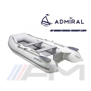 ADMIRAL - Надуваема моторна лодка с твърдо дъно и надуваем кил AM-290 Seaworthy - светло сива