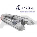 ADMIRAL - Надуваема моторна лодка с твърдо дъно и надуваем кил AM-375S AL - светло сива