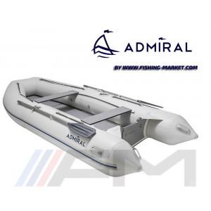 ADMIRAL - Надуваема моторна лодка с твърдо дъно и надуваем кил AM-320 Sport - светло сива