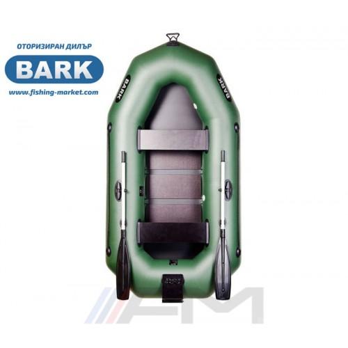 BARK - Надуваема гребна лодка с твърдо дъно и транец B-250CN