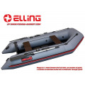 ELLING - Надуваема моторна лодка с твърдо дъно Forsag F310C - тъмно сива