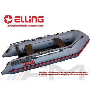ELLING - Надуваема моторна лодка с твърдо дъно Forsag F290C - тъмно сива