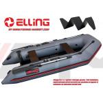 ELLING - Надуваема моторна лодка с твърдо дъно Forsag F310POL - тъмно сива