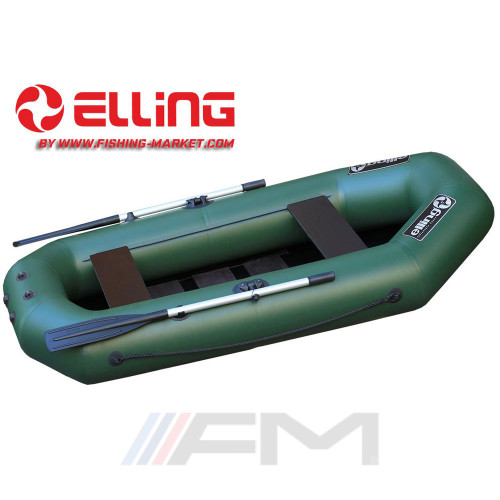 ELLING - Надуваема гребна лодка с твърдо дъно Navigator N240CNM - зелена