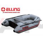 ELLING - Надуваема моторна лодка с твърдо надуваемо дъно Tender T240AIR - тъмно сива