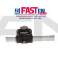 FASTen Комплект за тръбен монтаж с 1 универсално гнездо FMr125 - черно