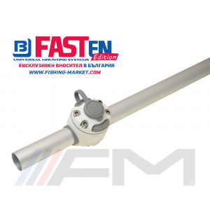 FASTen Комплект за тръбен монтаж с 1 универсално гнездо FMr132 - бяло