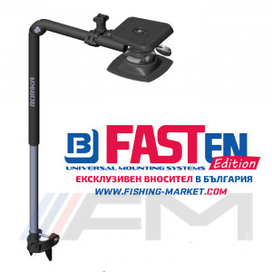 FASTen Стойка за сонда и сонар с монтажна основа за надуваем PVC борд FTp450 - 40 cm / черна ALA