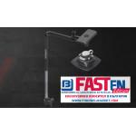 FASTen Стойка за сонда и сонар с монтажна основа за надуваем PVC борд FTp460 / черна ALA