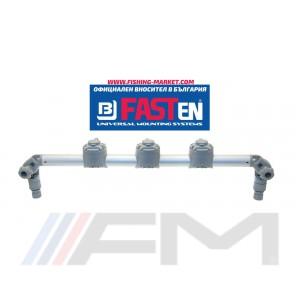 FASTen Платформа с 3 универсални модула за аксесоари  Gr700-3 / сива ALA