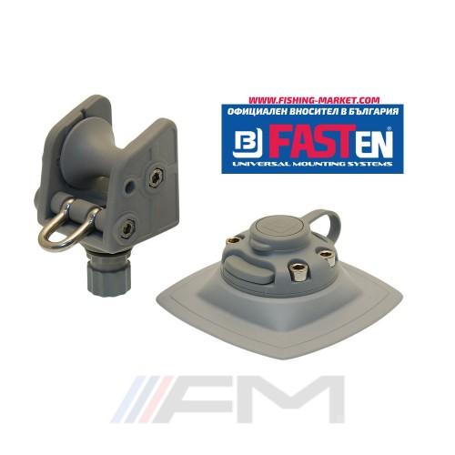 FASTen Ролка за котва до 8 kg. в комплект с монтажна основа за надуваем PVC борд Arp002 - сива