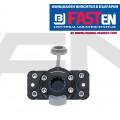 FASTen Универсална монтажна ключалка с правоъгълна монтажна основа за твърд борд FFr444 - черна