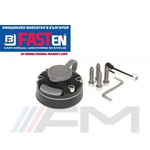 FASTen Универсална монтажна ключалка с монтажна основа за твърд борд FMb - черна
