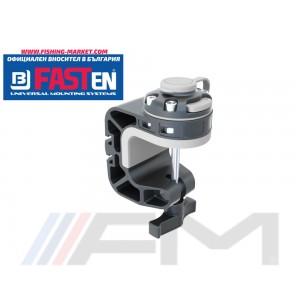 FASTen Универсална монтажна основа за фиксиране към разлчини повърхности FMk - черно / до 40 mm