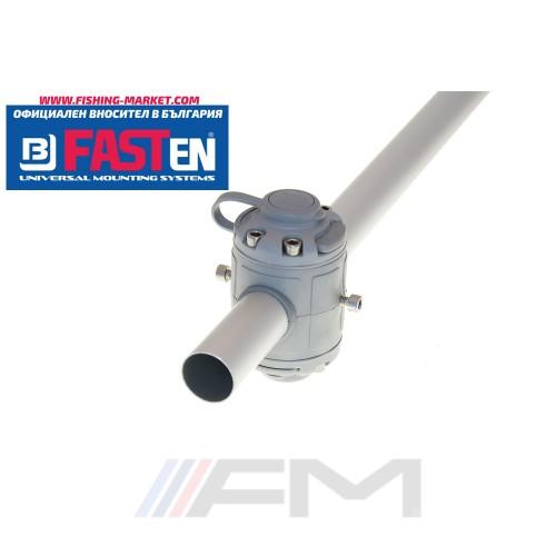 FASTen Комплект за тръбен монтаж с 2 универсални гнезда FMr232 - сиво