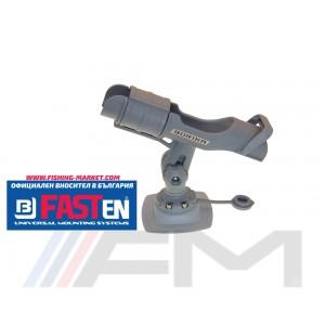 FASTen Стойка за въдица в комплект с монтажна основа за надуваем PVC борд HTp213 - сива