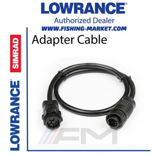 LOWRANCE xSonic Tranducer Adapter Cable - Адапторен кабел за сонда от 7 pin към 9 pin