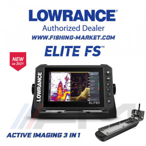 LOWRANCE Elite-7 FS Combo - Цветен Multi Touch Scren сонар с GPS и 3 в 1 Active Imaging сонда / BG Menu