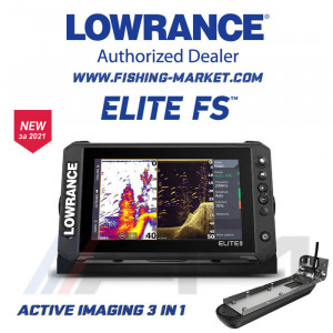 LOWRANCE Elite-9 FS Combo - Цветен Multi Touch Scren сонар с GPS и 3 в 1 Active Imaging сонда / BG Menu