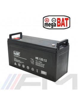 Акумулаторна батерия MEGABAT AGM - MB 120Ah 12V - тягова
