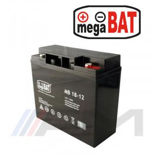 Акумулаторна тягова батерия MEGABAT AGM - MB 18Ah 12V