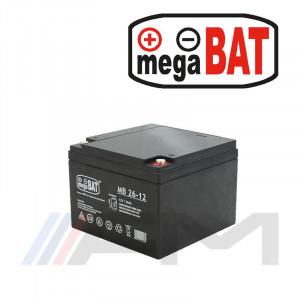 Акумулаторна тягова батерия MEGABAT AGM - MB 26Ah 12V