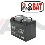Акумулаторна тягова батерия MEGABAT AGM - MB 33Ah 12V