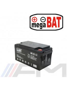 Акумулаторна тягова батерия MEGABAT AGM - MB 65Ah 12V
