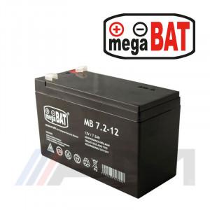 Акумулаторна тягова батерия MEGABAT AGM - MB 7.2Ah 12V