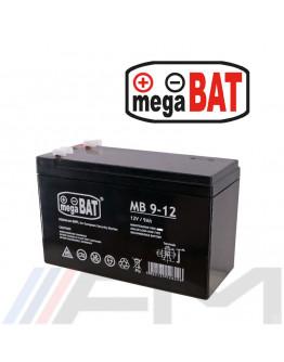 Акумулаторна тягова батерия MEGABAT AGM - MB 9Ah 12V