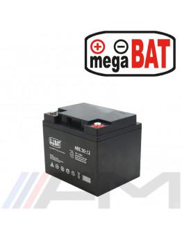 Акумулаторна тягова батерия MEGABAT AGM - MBE 50Ah 12V