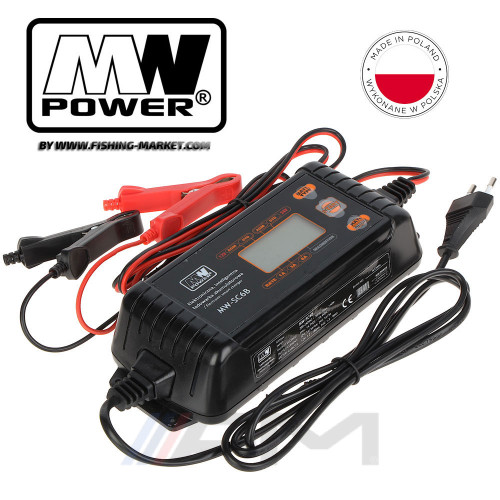 Зарядно устройство MW Power Electronic Smart Battery Charger SC6B - 12V/24V - 6.0A