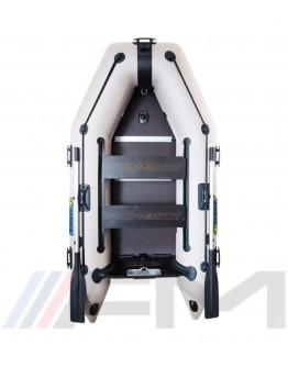 OMEGA - Надуваема моторна лодка с твърдо дъно и надуваем кил 270 K PFA RT PT - светло сива