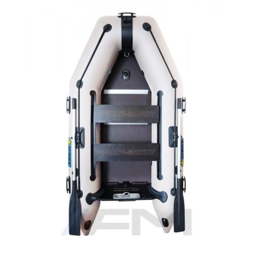 OMEGA - Надуваема моторна лодка с твърдо дъно и надуваем кил 270 K Comfortline PFA RT PT светло сива