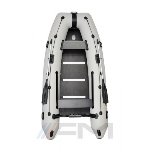 OMEGA - Надуваема моторна лодка с твърдо дъно и надуваем кил 310 KU Comfortline PFA RT PT светло сива