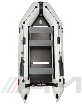 OMEGA - Надуваема моторна лодка с твърдо дъно и надуваем кил 360 K PFA RT PT - светло сива