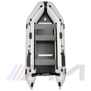 OMEGA - Надуваема моторна лодка с твърдо дъно и надуваем кил 360 K Comfortline PFA RT PT светло сива