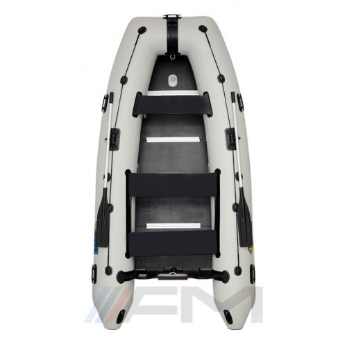 OMEGA - Надуваема моторна лодка с твърдо дъно и надуваем кил 360 KU Comfortline PFA RT PT светло сива