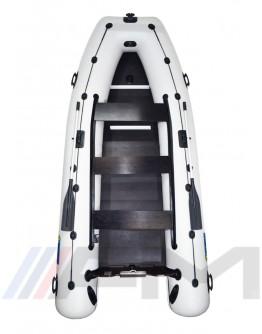 OMEGA - Надуваема моторна лодка с твърдо дъно и надуваем кил 400 KU PFA RT PT SPH - светло сива