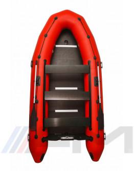 OMEGA - Надуваема моторна лодка с твърдо дъно и надуваем кил 385 K PFA RT PT - червена